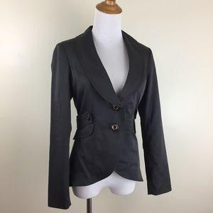 CABI Split Hem High Low Long Sleeve Blazer Jacket